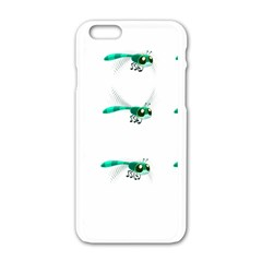 Flying Dragonfly Apple iPhone 6/6S White Enamel Case