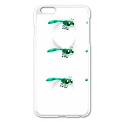 Flying Dragonfly Apple iPhone 6 Plus/6S Plus Enamel White Case