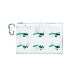 Flying Dragonfly Canvas Cosmetic Bag (S)