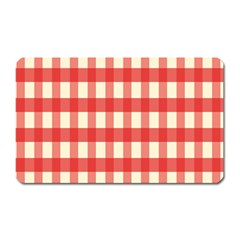 Gingham Red Plaid Magnet (Rectangular)