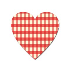 Gingham Red Plaid Heart Magnet