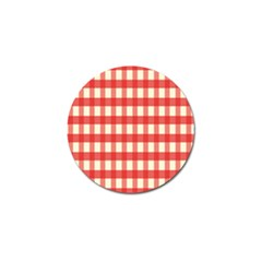 Gingham Red Plaid Golf Ball Marker (10 pack)