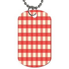 Gingham Red Plaid Dog Tag (Two Sides)