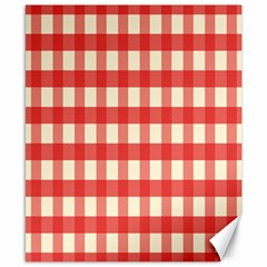 Gingham Red Plaid Canvas 8  x 10
