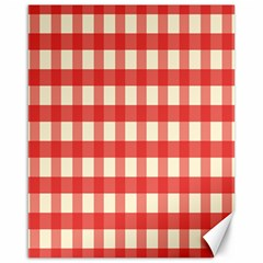 Gingham Red Plaid Canvas 16  x 20