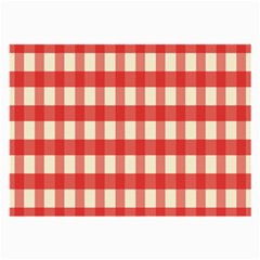 Gingham Red Plaid Large Glasses Cloth (2-Side)