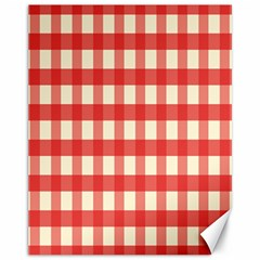 Gingham Red Plaid Canvas 11  x 14