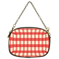 Gingham Red Plaid Chain Purses (One Side)