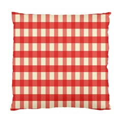 Gingham Red Plaid Standard Cushion Case (Two Sides)