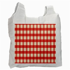 Gingham Red Plaid Recycle Bag (Two Side)