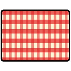 Gingham Red Plaid Fleece Blanket (Large)