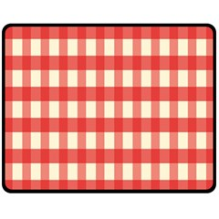 Gingham Red Plaid Fleece Blanket (Medium)