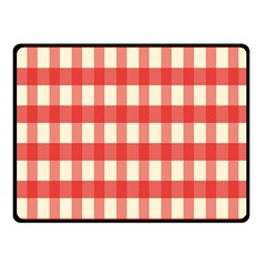 Gingham Red Plaid Fleece Blanket (Small)