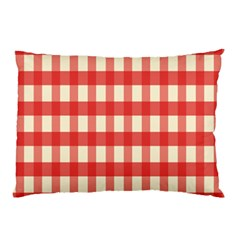 Gingham Red Plaid Pillow Case (Two Sides)