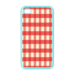 Gingham Red Plaid Apple iPhone 4 Case (Color)