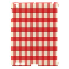 Gingham Red Plaid Apple iPad 3/4 Hardshell Case (Compatible with Smart Cover)