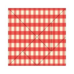 Gingham Red Plaid Acrylic Tangram Puzzle (6  x 6 )