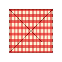 Gingham Red Plaid Acrylic Tangram Puzzle (4  x 4 )