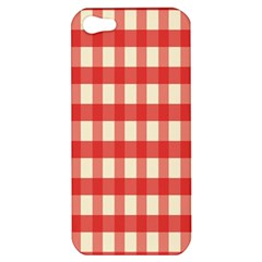 Gingham Red Plaid Apple iPhone 5 Hardshell Case