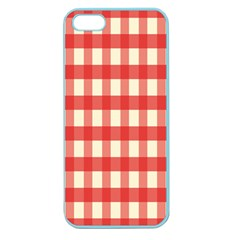 Gingham Red Plaid Apple Seamless iPhone 5 Case (Color)