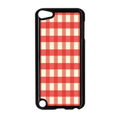 Gingham Red Plaid Apple iPod Touch 5 Case (Black)