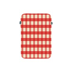 Gingham Red Plaid Apple iPad Mini Protective Soft Cases
