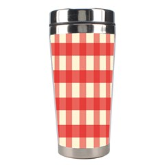 Gingham Red Plaid Stainless Steel Travel Tumblers