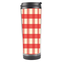 Gingham Red Plaid Travel Tumbler