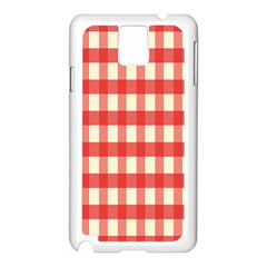 Gingham Red Plaid Samsung Galaxy Note 3 N9005 Case (White)