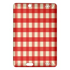 Gingham Red Plaid Amazon Kindle Fire HD (2013) Hardshell Case