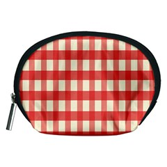 Gingham Red Plaid Accessory Pouches (Medium)