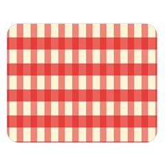 Gingham Red Plaid Double Sided Flano Blanket (Large)