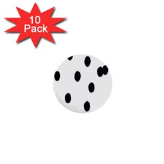 Gold Polka Dots Dalmatian 1  Mini Buttons (10 pack)