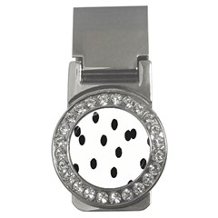 Gold Polka Dots Dalmatian Money Clips (CZ)