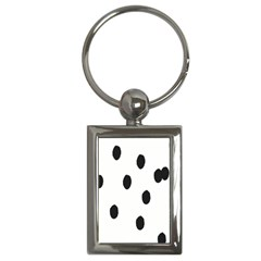Gold Polka Dots Dalmatian Key Chains (Rectangle)