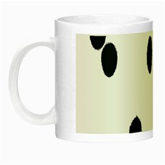 Gold Polka Dots Dalmatian Night Luminous Mugs