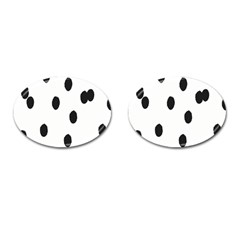 Gold Polka Dots Dalmatian Cufflinks (Oval)