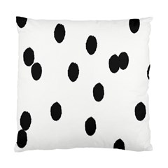 Gold Polka Dots Dalmatian Standard Cushion Case (Two Sides)
