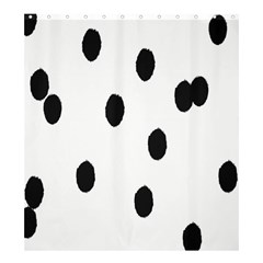 Gold Polka Dots Dalmatian Shower Curtain 66  x 72  (Large)
