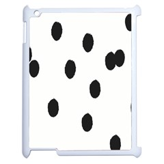 Gold Polka Dots Dalmatian Apple iPad 2 Case (White)