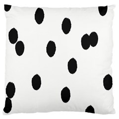 Gold Polka Dots Dalmatian Large Cushion Case (One Side)