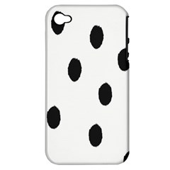 Gold Polka Dots Dalmatian Apple iPhone 4/4S Hardshell Case (PC+Silicone)