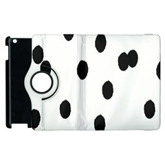 Gold Polka Dots Dalmatian Apple iPad 3/4 Flip 360 Case