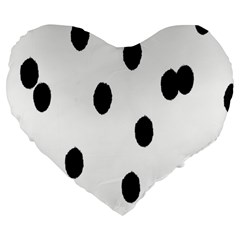 Gold Polka Dots Dalmatian Large 19  Premium Heart Shape Cushions