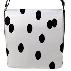 Gold Polka Dots Dalmatian Flap Messenger Bag (S)