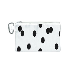 Gold Polka Dots Dalmatian Canvas Cosmetic Bag (S)