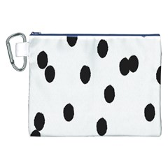 Gold Polka Dots Dalmatian Canvas Cosmetic Bag (XXL)