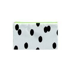 Gold Polka Dots Dalmatian Cosmetic Bag (XS)