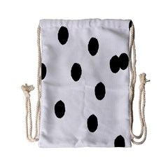 Gold Polka Dots Dalmatian Drawstring Bag (Small)