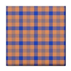 Fabric Colour Orange Blue Tile Coasters